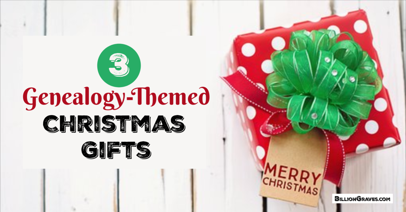 3 Genealogy-Themed Christmas Gifts